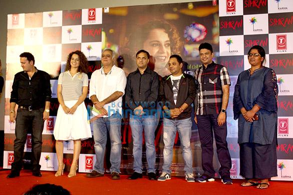 Kangna Ranaut & Hansal Mehta launch the trailer of 'Simran'