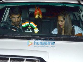 Karan Singh Grover and Bipasha Basu snapped in Bandra