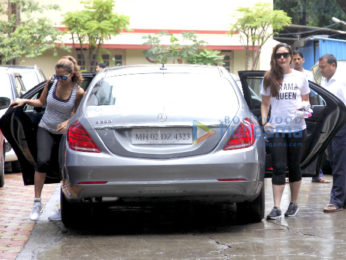 Kareena Kapoor Khan and Amrita Arora snapped outside their gym
