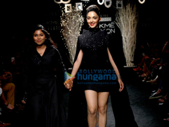 Kiara Advani walks for Hardika Gulati at Lakme Fashion Week 2017
