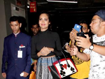 Ajay Devgn, Esha Gupta, Emraan Hashmi and Ileana D'Cruz snapped at the Mumbai airport