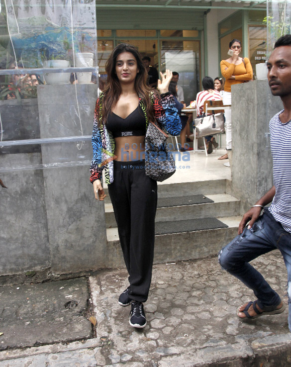 Nidhhi Agerwal snapped at The Kitchen Garden