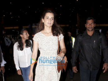 Ranbir Kapoor and Kangana Ranaut snapped at the airport