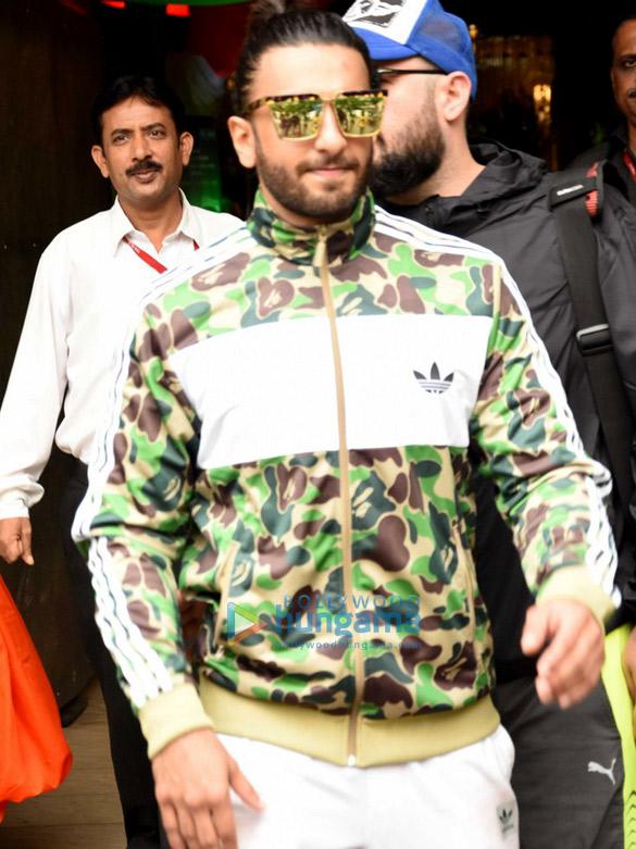 Ranveer Singh snapped post gym in Bandra