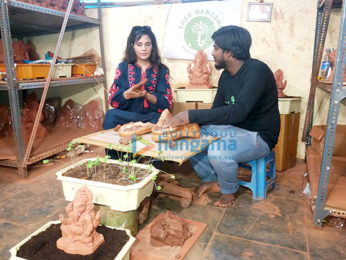 Richa Chadda promotes environment-friendly Lord Ganesha idols