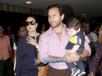 Saif Ali Khan, Kareena Kapoor Khan and Taimur arrive back from their Switzerland holiday