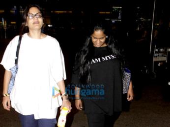 Salman Khan, Alvira Khan Agnihotri and Arpita Khan arrive back in Mumbai