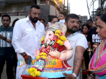 Sanjay Dutt's Ganesha visarjan at Juhu Beach