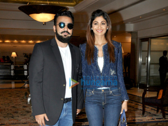 Shilpa Shetty Kundra and Raj Kundra attend the launch of Indian Poker League