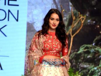Shraddha Kapoor walks for Rahul Mishra at Lakme Fashion Week 2017