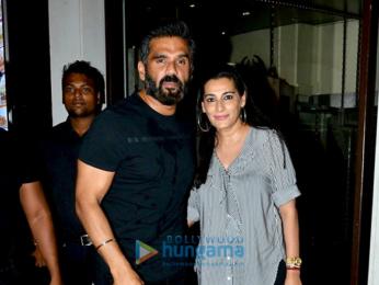 Shraddha Kapoor and Suniel Shetty's families snapped post dinner at Bastian