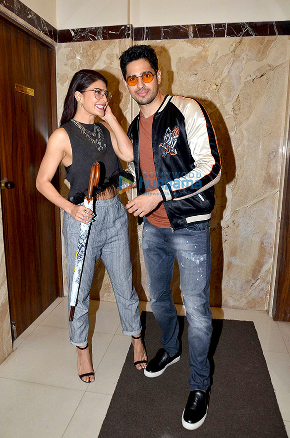 Sidharth Malhotra & Jacqueline Fernandez snapped at 'A Gentleman' promotions on Radio Today