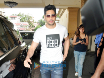 Sidharth Malhotra and Jacqueline Fernandez snapped at the promotions of 'A Gentleman'