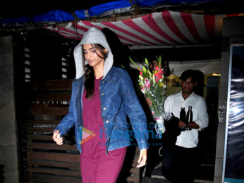 Sonam Kapoor snapped post salon session in Juhu
