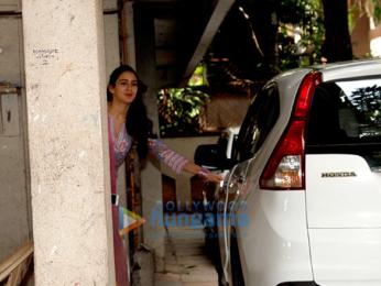 Sushant Singh Rajput and Sara Ali Khan snapped at Abhishek Kapoor's office