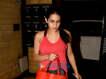 Sushant Singh Rajput and Sara Ali Khan snapped at Abhishek Kapoor office in Bandra