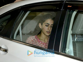 Sushant Singh Rajput and Sara Ali Khan snapped post meeting at Abhishek Kapoor's office