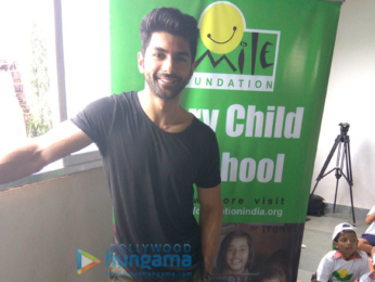Taaha Shah snapped visiting the NGO Smile Foundation
