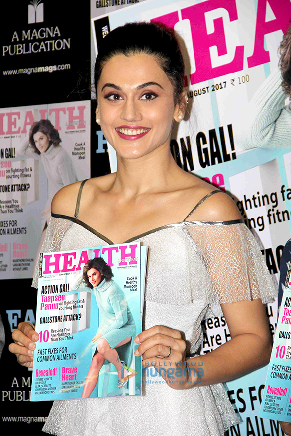 Taapsee Pannu unveils the latest issue of the magazine Health & Nutrition