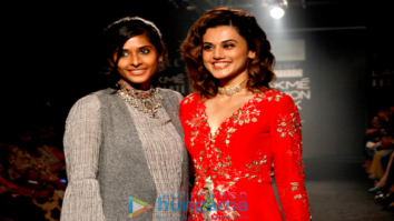 Taapsee Pannu walks for Divya Reddy at Lakme Fashion Week 2017