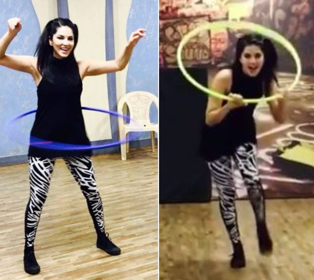 WATCH Sunny Leone hula hoops while rehearsing for Bhoomi's dance number 'Trippy Trippy'