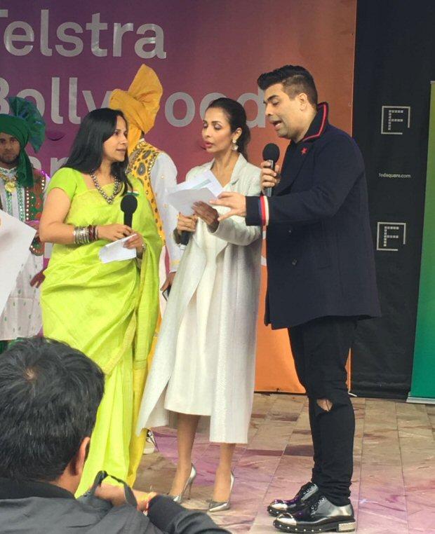 WOW! Dashing Karan Johar, glamorous Malaika Arora spotted giving out prizes at a Melbourne dance competition3