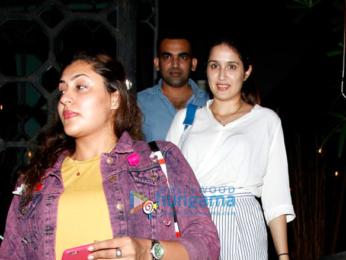 Zaheer Khan and Sagarika Ghatge snapped post dinner at The Korner House