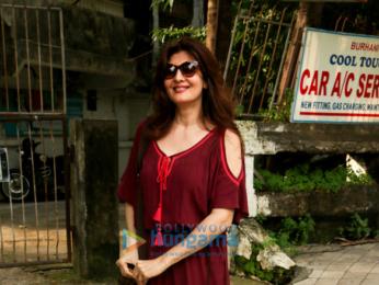 Sangeeta Bijlani snapped post a spa session in Juhu