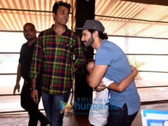 Varun Dhawan, Taapsee Pannu, Jacqueline Fernandez promote 'Judwaa 2' in Mumbai