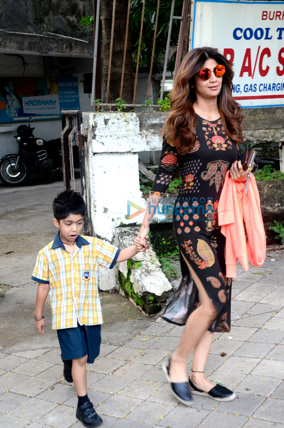 Shilpa Shetty snapped outside Kromakay salon