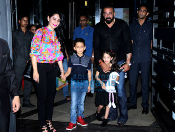Sanjay Dutt and Manyata Dutt snapped with their kids