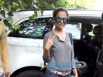 Amrit Arora snapped near her car