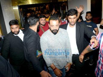 Sanjay Dutt & Aditi Rao Hydari at PlayBoy cafe in CP Delhi