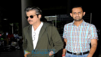 Anil Kapoor is seen sporting 'Fanney Khan' look whilst returning from Dubai