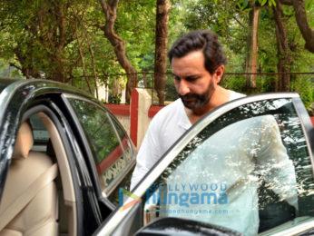 Saif Ali Khan snapped post a meeting in Bandra