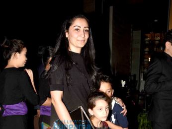 Sanjay Dutt and family grace the opening of Nara Thai restaurant
