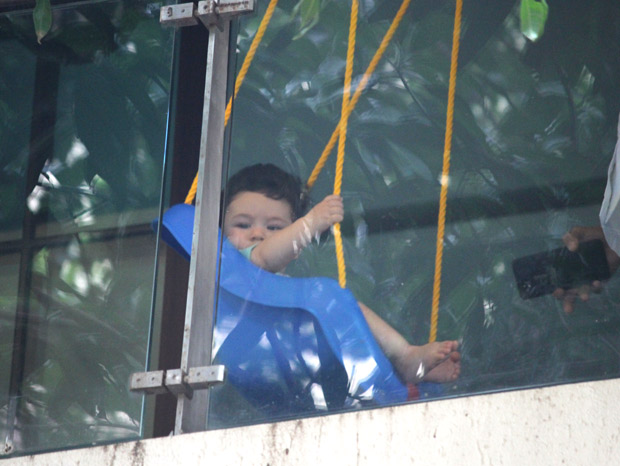 ADORABLE Taimur Ali Khan enjoys his day swinging away in these latest photos! (1)