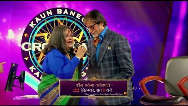 Amitabh Bachchan welcomes popular singer Usha Uthup on Kaun Banega Crorepati