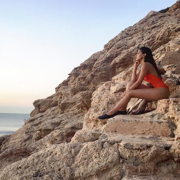 Amyra Dastur is a sultry siren in this orange swimsuit-01