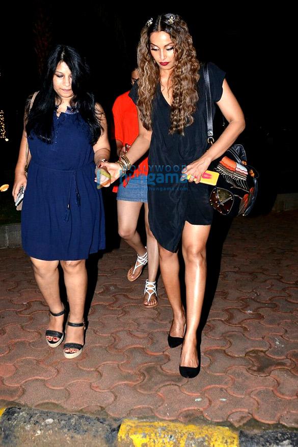 Bipasha Basu snapped with close friends post dinner at Yauatcha