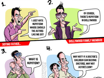 Bollywood Toons Many stages of nepotism in Bollywood!