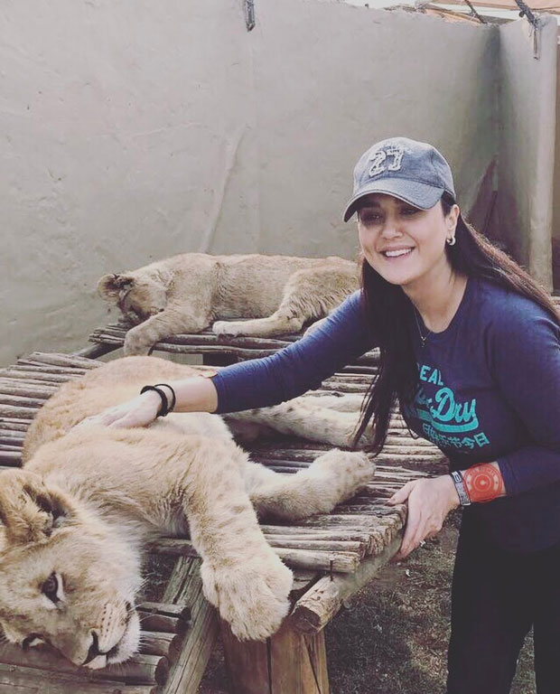 CUTE! Preity Zinta is happy about meeting these 'new friends' in South Africa