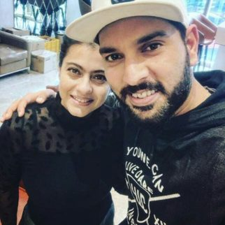 Check out Kajol and Yuvraj Singh pose for a selfie while waiting for their flight
