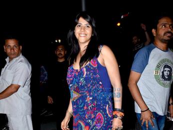Ekta Kapoor and friends snapped post dinner at Yautcha in Bandra