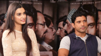 Farhan Akhtar & Diana Penty OPEN UP About Their Upcoming Projects Parmanu Lucknow Central video