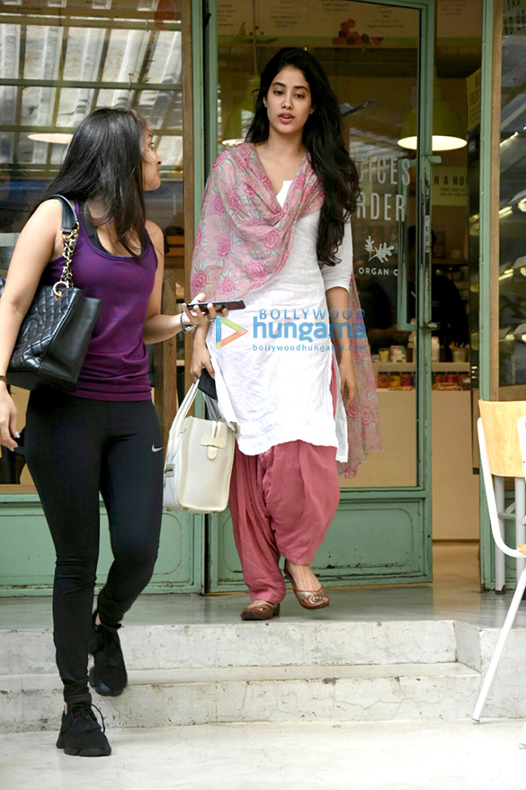 Jahnavi Kapoor snapped at The Kitchen Garden in Bandra