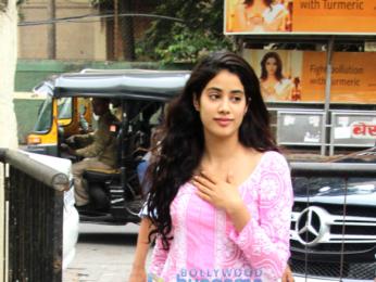 Jahnavi Kapoor snapped post dance rehearsals in Bandra