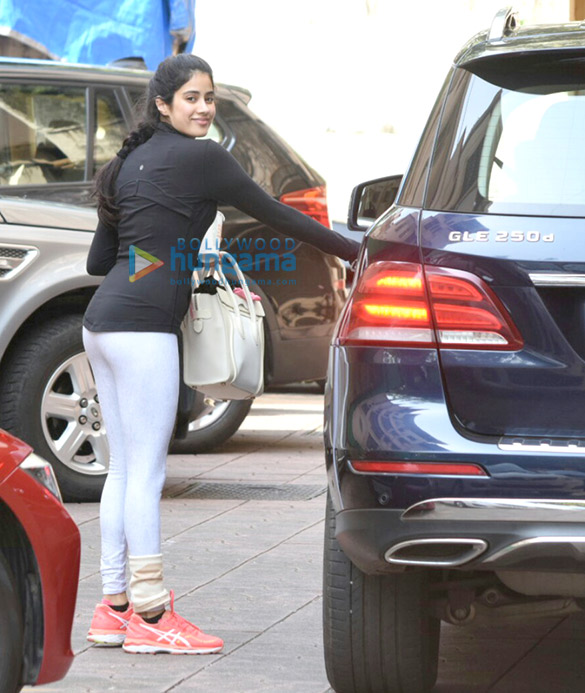 Jahnavi Kapoor snapped post gym