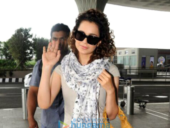 Kangana Ranaut snapped at the airport
