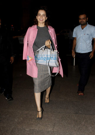 Kangna Ranaut, Kalki Koechlin and Jim Sarbh snapped at the airport
